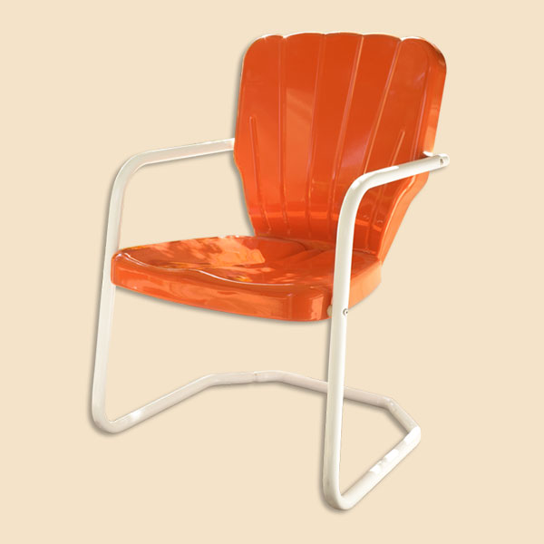 Vintage Orange Dining Chairs